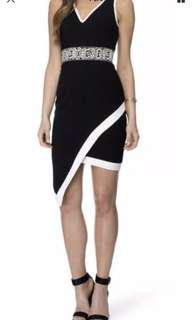 Ladies FRESH SOUL Black Parralel Lines Dress. Size 8.  New with tags $149.95