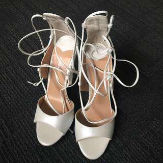 Tony Bianco Karim Heels - White Pearl