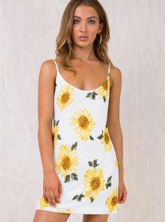 Princesspolly Sunflower Mini Dress