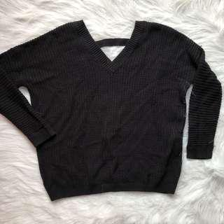 Forever 21 knitted backless / back detail sweater