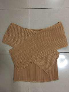 Pleated Off-Shoulder Top