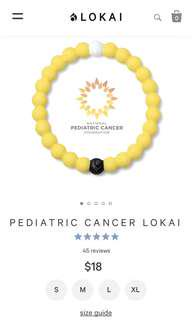🚚 BNWT Pediatric Cancer Lokai