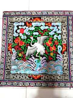 🚚 Embroidery Cushion Covers 刺绣坐垫套 (仙鹤报喜)