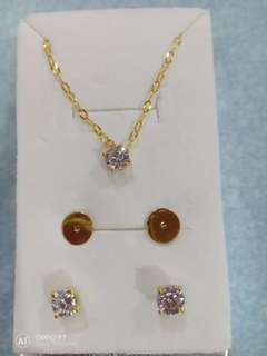 18k Gold Tiffany Design Set