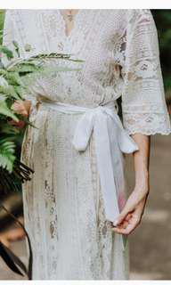 Bells and Birds Lace robe (Maternity or Bridal)