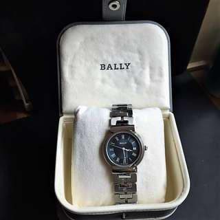 BALLY Men's Fashion watch Stainless Steel. Blue Dial with Date.