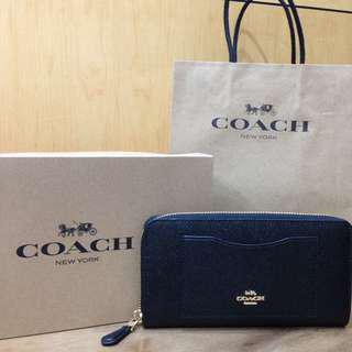 💯 Coach Leather Zip Wallet