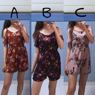 Clearance Floral Rompers
