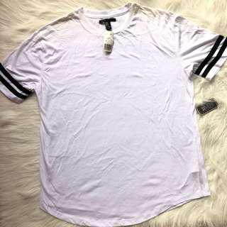 Forever 21 Mens Streetwear basic top black white