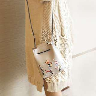 NEW Embroidered bucket bag (BEIGE ONLY)