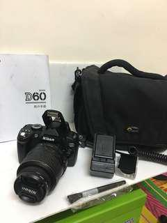 Nikon D60 with 18-55mm lens and bag !!!