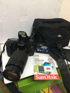 Canon 60D with 75-300mm lens bag memory card included!!!
