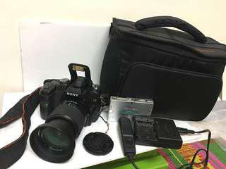 Sony a100 with 18-70mm lens and bag memory card included!!!