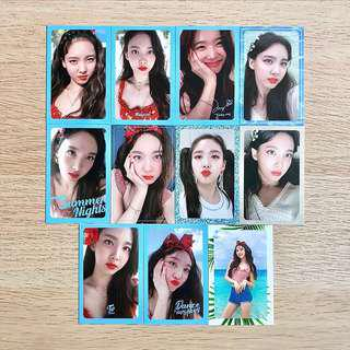 [SET] Twice DTNA Dance The Night Away Summer Nights Summer Night Official NAYEON Photocard Full Set