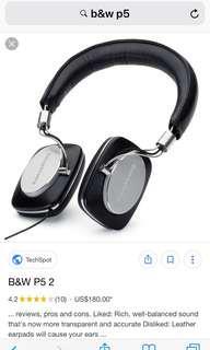 B&W P5 headphones  WHATHIFI ⭐️⭐️⭐️⭐️⭐️