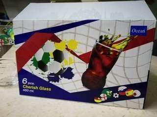 Ocean Football Cherish Glass Set