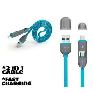 ORIGINAL Pineng PN-301 2IN1 Data Charging Cable