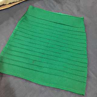 Green petite skirt
