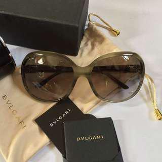 BVLGARI Gray Olive Green Sunglasses (AUTHENTIC & BRAND NEW)