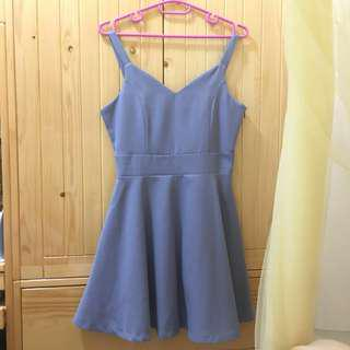 Bauhaus紫藍色吊帶裙 Blue Purple Dress