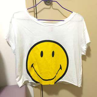 H&M Smiley Top 哈哈笑短上衣