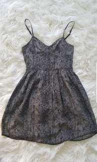 Aritzia reptile pattern silk dress sz 0
