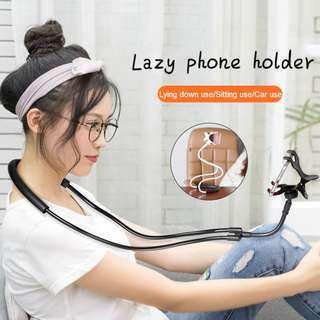 Lazy Neck Phone Holder Degree Rotation Mobile Stand Bendable