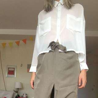 Oak and Fort Cropped Blouse