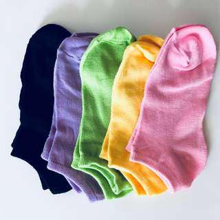 [INSTOCK] Plain Coloured Ankle Socks