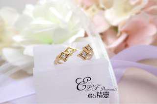 18K王金鑽石戒指