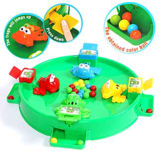 Hungry Frogs desktop board game toy Feed Frog Swallow Beads
