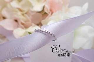 18K白金鑽石戒指