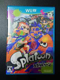((中古)) 日版 - Wii U Splatoon 漆彈大作戰 (WiiU Nintendo 任天堂)