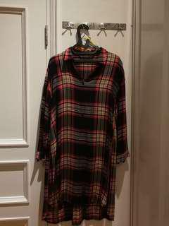 Preloved Zara Women Checkered Dress Red