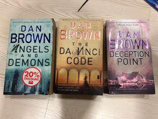 Dan Brown The Da Vinci Code Angels and Demons Deception Point