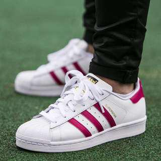 Adidas superstar white/pink