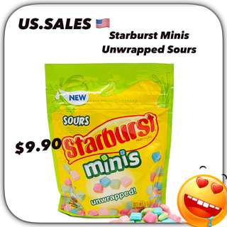 Starbursts Unwrapped Minis Sours from 🇺🇸
