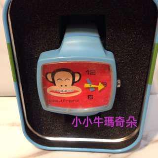 ~小小牛瑪奇朵~賣家收藏全新未使用PAUL FRANK大嘴猴牙套款手錶
