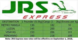 JRS new rates