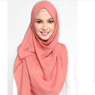 *Authentic* Duckscarves - Georgette in Colonial Rose