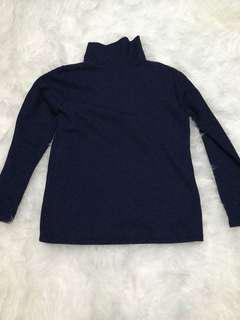Turtleneck tangan panjang navy