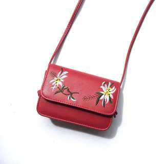 (INC POS) Floral Embroidery Sling Bag  #50under