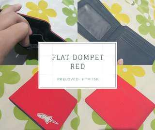 Flat dompet merah