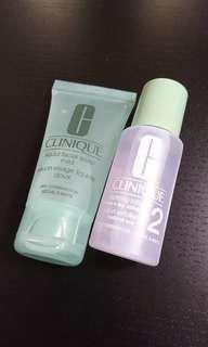 (包郵) Clinique liquid facial soap + clarifying lotion set