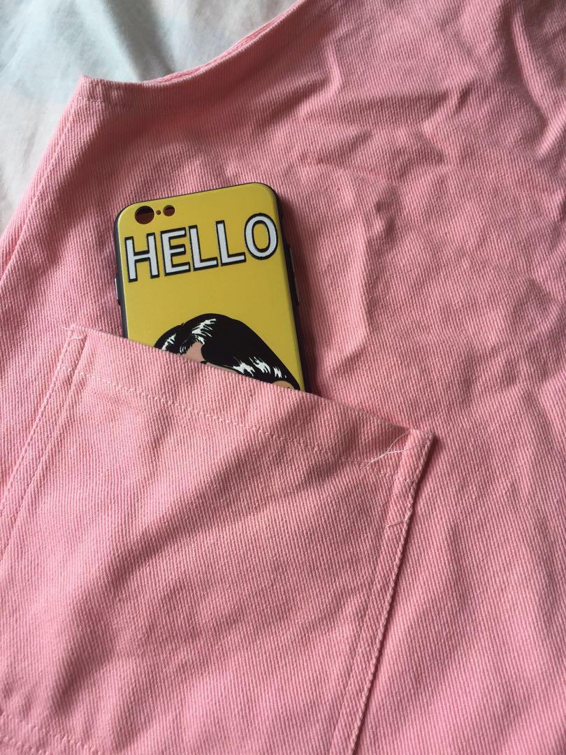 粉紅色工人裙