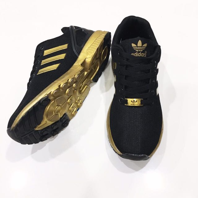 d6b1021a267 Adidas ZX Flux Gold, Women's Fashion, Shoes on Carousell