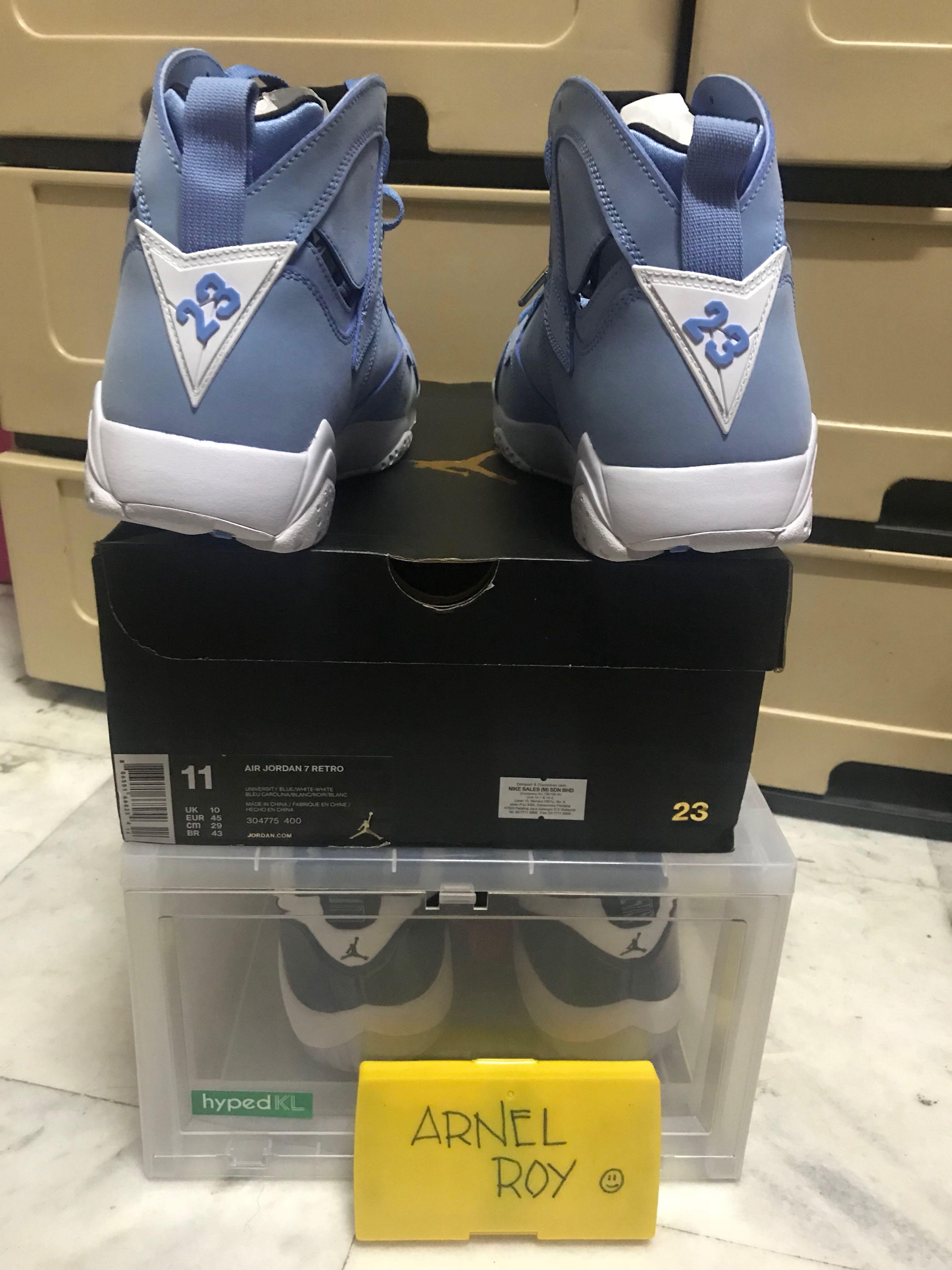 """6382ee6bcb55a1 Air Jordan 7 """" University Blue """" . BNIB US11 UK10"""