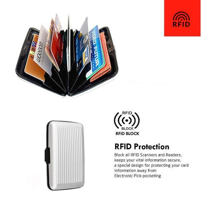 b2d4e5c9080 Aluma RFID White Card Case - RFID Blocking Technology