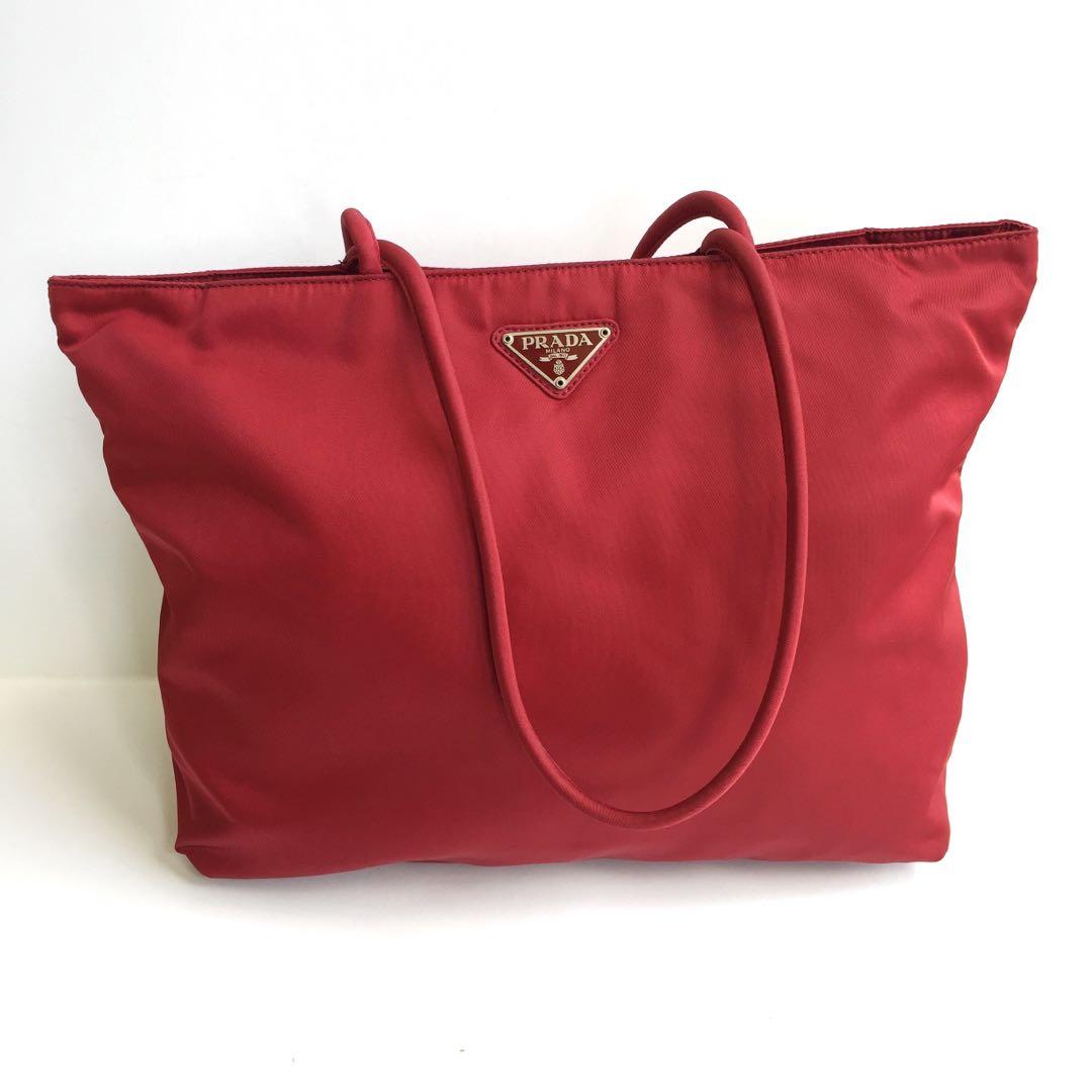 cb1817dd1ca6 auth prada tessuto nylon vintage tote bag
