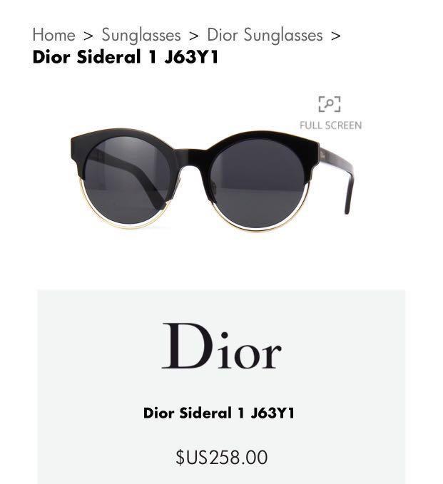 2dc0e49cb4d Authentic Dior Sideral Sunglasses